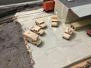 N scale Army Military Sampler Pack   Humvee  hummer 3D  printed Unpainted
