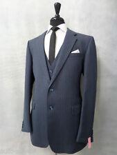Men's Burton Blue 3 Piece Vintage Suit 42L W36 L30 AR9911