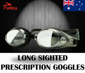 Long-Sighted Prescription Anti-fog Swimming Protection Goggles Glasses