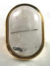 Saint Laurent Bague Cherry gold-plated quartz ring size 5 $595 YSL