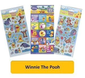 Disney WINNIE THE POOH STICKERS Tigger Piglet - Arts/Crafts/Reward/Fun Foil