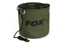 FOX COLLAPSIBLE WATER BUCKET 10L Inc Rope & Clip - CCC049 LARGE Carp Fishing