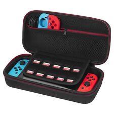 Nintendo Switch Black Slim Eva Hard Travel Case Cover With 10 Game Storage