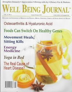 Well Being Journal Magazine Energy Medicine Yoga in Bed Heart Disease 2012
