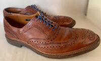 Allen Edmonds McTavish Men's Wingtip Walnut Brown USA Made Dress Shoes Size 8.5
