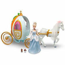 "Disney Princess Cinderella Carriage Pumpkin Coach w/Full-Size 12"" Doll & Royal"