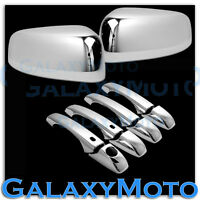 Chrome Mirror+4 Door Handle+Smart Hole Cover Combo for 11-14 JEEP GRAND CHEROKEE