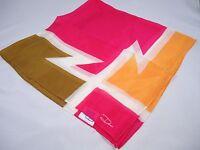Desco handkerchief neck scarf pink white Olive Green Z shape design logo New