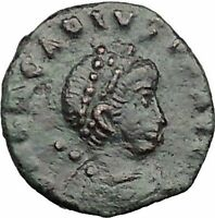 ARCADIUS 388AD Ancient Roman Coin VICTORY Nike  Chi-Rho Christ Monogram i32816