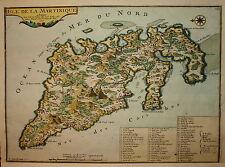 ISLE DE LA MARTINIQUE BY NICOLAS DE FER PUBLISHED 1704.