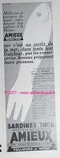 PUBLICITE AMIEUX FRERES SARDINES THON FILETS DE MAQUEREAUX CONSERVE DE 1935 AD