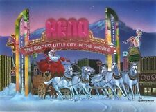 12 Christmas Cards,Santa Horse Stagecoach,Reno,Las Vegas,Wild West,Texas,Usa.Tcb