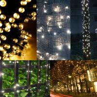 Solar Power 100 LED String Fairy Lights Garden Outdoor Xmas Party Lamp Decor
