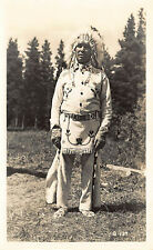 Native American Indian Chief G-139 Real Photo Postcard