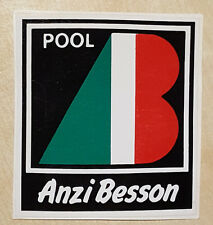 vintage ANZI BESSON sticker adesivo tennis retro clothes BNWT nos rare 80
