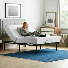 "Adjustable Bed Base Medical w/ Remote Control + 10"" Memory Foam Mattress Queen"