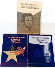 Abeka THE HISTORY OF OUR UNITED STATES Geography/Maps Test/Quiz  Lot 3 4th Grade