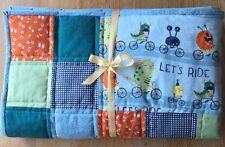 Baby Boy's Handmade Pachwork Blue Monsters Quilt