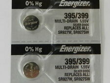 Energizer  395/399 SR927W /SR927SW Button Cell Silver Oxide Watch Battery, 2Pc