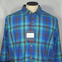 $188 Robert Graham Whoville Shirt Button Down Blue Plaid Tailored Sz XXL 2XL NWT