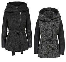 ONLY Damen Wollmantel Mantel Jacke onlLISFORD BOUCLE WOOL COAT Übergang Winter