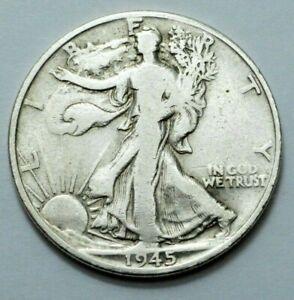 1945-D Walking Liberty Half Dollar COIN Silver 50c Better Date, No Reserve