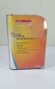Microsoft MS Office Small Business 2007 Upgrade Word Excel Acces PowerPoint