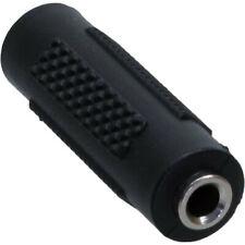 InLine Audio Adapter 3,5mm Klinke Bu->Klinke Bu Stereo schwarz