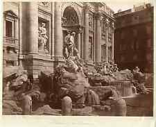 Italie, Roma, Fontana di Trevi  Vintage albumen print  Tirage albuminé  21x2