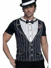 Gangster T-shirt 1920s Fancy Dress Costume Idea Instant Suit Top Smiffys 34154