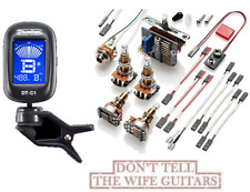 EMG Solderless Conversion Wiring Kit 3 Active Pickups LONG SHAFT POTS ( TUNER )