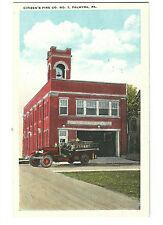 Old Postcard Citizen's Fire Co No. 1 Palmyra PA Tichnor Fire Engine