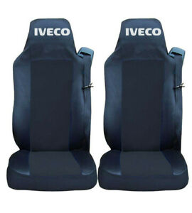 Set of 2 Seat Covers Black for IVECO Stralis Tailored Truck Tailored Lorry HGV
