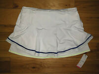 Womens Lucky In Love White/Blue Tennis Skirt Skort Longer Length Size XL New