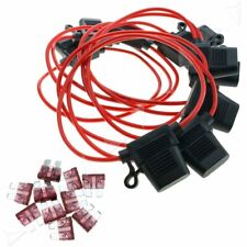 10X 40A In-line Blade Small Fuse Holder for Car Boat Truck Auto 16 AWG Cable