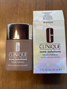 Clinique Acne Solutions Liquid Makeup 08 Fresh Amber (D) New In Box