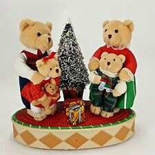 Animated Teddy Bear Moving Singing Wish You Merry Christmas w/ Light Up Tree 10""