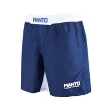Manto Fight Shorts Defend Navy White No-Gi Jiu Jitsu MMA Grappling Training Gym