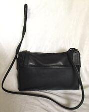 Vintage COACH Black Leather Cross Body/Shoulder Bag / Handbag, Made In USA