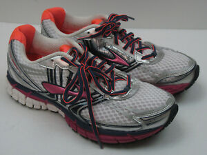 Brooks GTS14 Women's Size 9.5B (Med) Silver/Purple Athletic Running Shoes 7078
