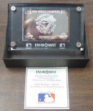 Enviromint pure silver (3 oz) 1992 Toronto Blue Jays World Series card /15000