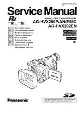 Panasonic AG-HVX200 HVX202 Service Manual & Repair Guide