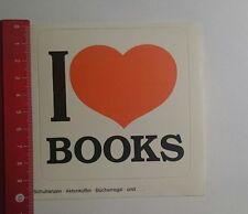 Aufkleber/Sticker: i love Books Schulranzen Aktenkoffer (081116103)