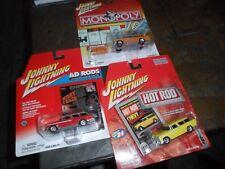 3 LOT Johnny Lightning Monopoly 1955 Chevrolet Nomad & Token & AD RODS HOT ROD