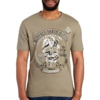 Buffalo David Bitton Mens Olive Skull Logo Cotton T-Shirt NWT $39 Size XXL 2XL