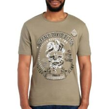 Buffalo David Bitton Mens Olive 1972 Skull Logo Cotton T-Shirt NWT $39 Size XXL
