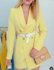 Stradivarius Zara Group Yellow Blazer Dress With Size M U.K. 10 Bloggers Fav