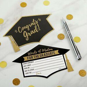 50 Graduation Advice Cards - High School Grad Party Guest Book MW36990