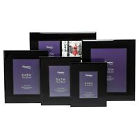 Noir Solid Black Glass 4x6 5x7 8x10 And 4 Aperture Photo Picture Display Frames