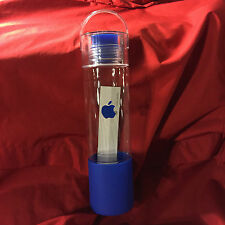 OOP NEW RARE APPLE COMPUTER BLUE LOGO WATER BOTTLE EMPLOYEE STORE BOTTLE TUMBLER